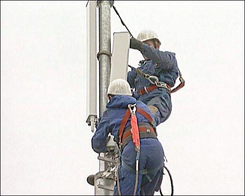 Aufgrund der wachsenden Zahl an Handys in Deutschland werden in 2002 vermehrt neue Verstärker- und Sendeanlagen montiert