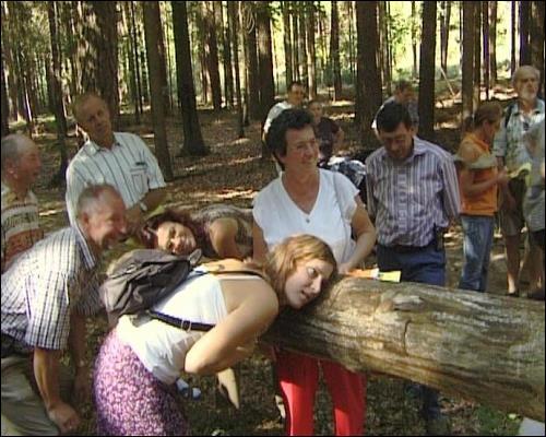 Erprobung des Waldtelefons