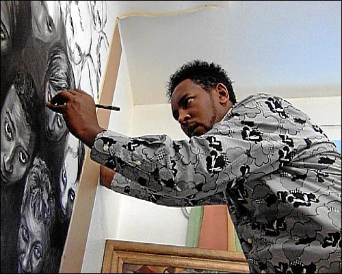 Der Maler Sisay Shimeles