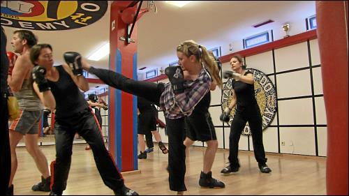 Beim Kickboxen fand Anastasia Abstand zum nicht ganz einfachen Beginn in Deutschland