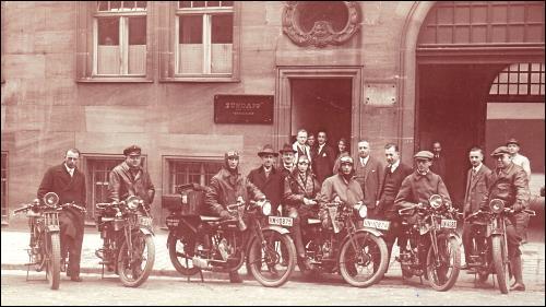 erste Zündapp-Produktionsstätte in der Nürnberger Moltkestraße