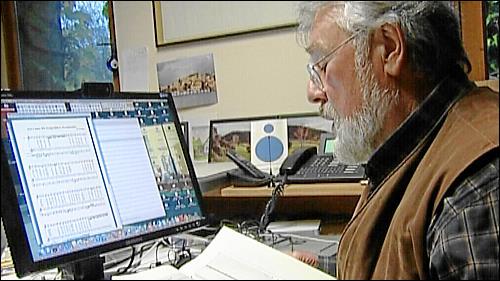 Alte Musik und neue Technik: Wolfgang Riedelbauch am Rechner