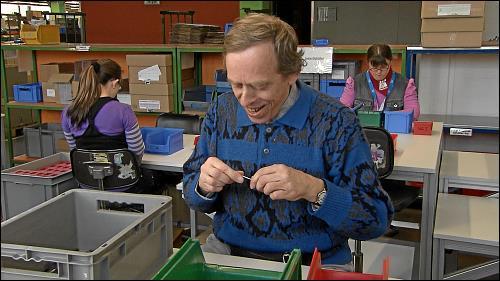 Jochen Kiener arbeitet seit 26 Jahren mit großer Begeisterung in den Dambacher Werkstätten der Lebenshilfe Fürth