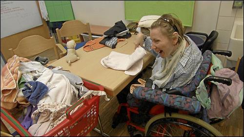 Die Förderstätte versucht, auch Menschen mit Mehrfachbehinderungen eine sinnvolle Beschäftigung anzubieten