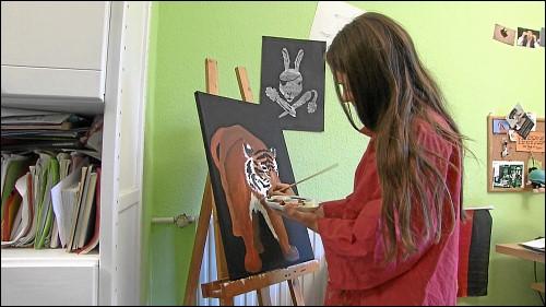 Malen und Zeichnen gehört zu Verenas Lieblingsbeschäftigungen