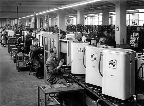 Rund 90 Jahre wurden auf dem Gelände der AEG in Nürnberg-Muggenhof Haushaltgeräte produziert. Foto: Deutsches Technikmuseum Berlin
