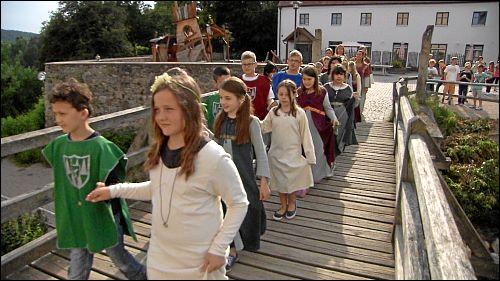 Bei der letzten gemeinsamen Klassenfahrt auf Burg Trausnitz