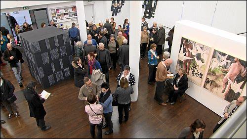 Vernissage der Ausstellung »Das Wort wird Bild« in der kunst galerie fürth