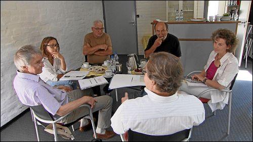 Margit Mohr, Leiterin des KUNO, hat Gründungsmitglieder des Vereins eingeladen, um sich mit ihnen über die ersten Jahre auszutauschen.