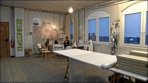 Ursula Kreutz im Atelier