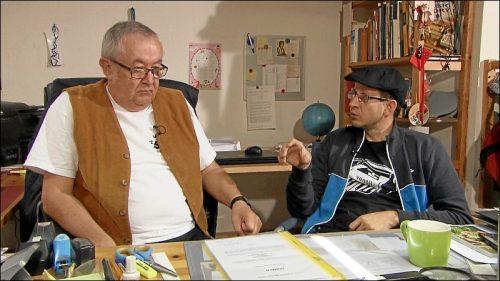 Vater und Sohn: Leos Vater ist als Bühnenautor ebenfalls literarisch tätig