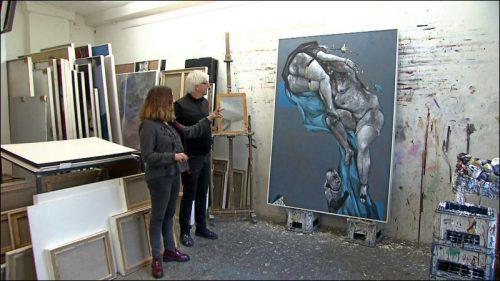Barbara Bogen im Gespräch mit dem Künstler über das Bild »Aphrodite in der Schmiede«