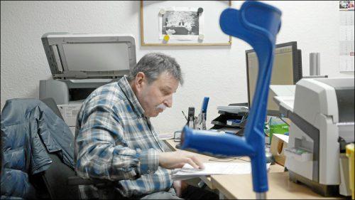Roland Buchner hat über 24 Jahre gebraucht, um gemeinsam mit der Boxdorfer Werkstatt einen für ihn geeigneten Arbeitsplatz zu finden.