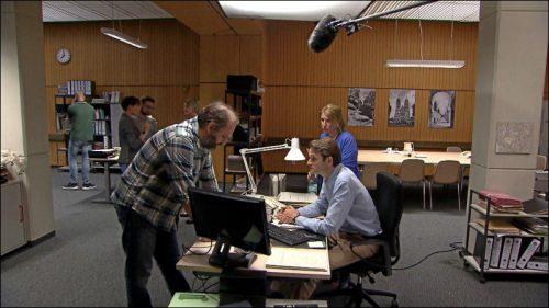 Seit 2015 spielt Matthias Egersdörfer den Leiter der Spurensicherung im Franken-Tatort. Wir waren bei den Dreharbeiten zur neuesten Ausgabe.